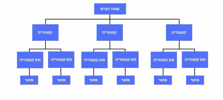 מבנה היררכיה לאתר חנות אינטרנטית